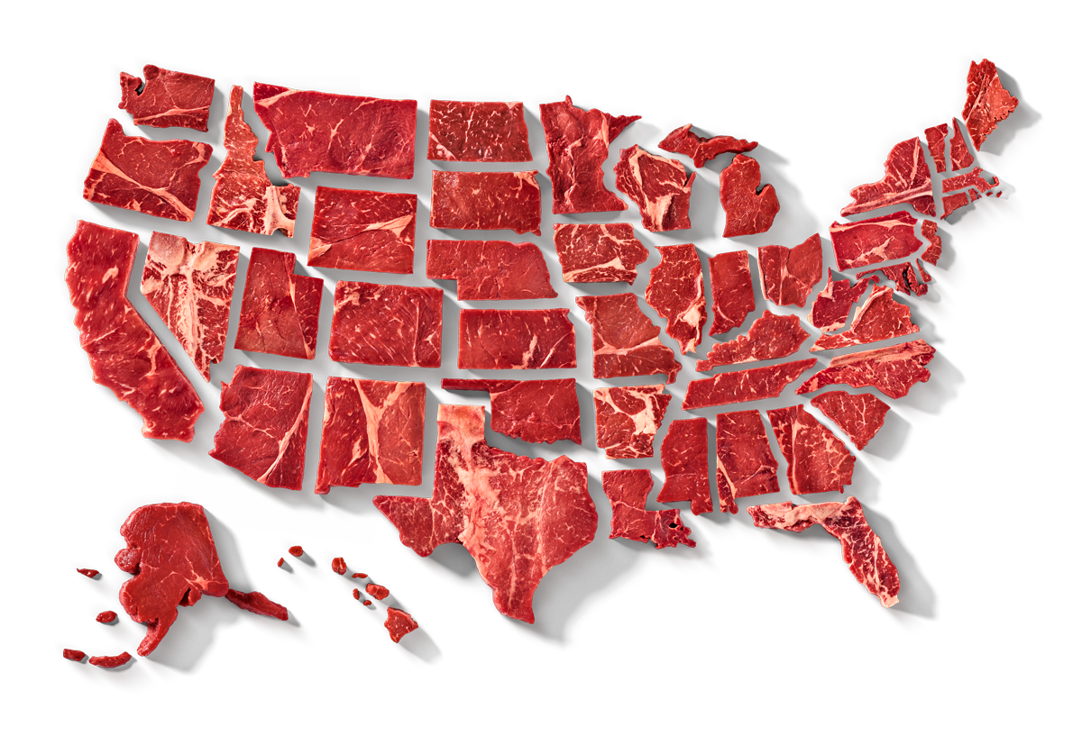 Summer Grilling Steak Map